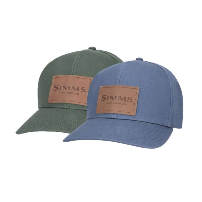 Casquette Simms Leather Patch