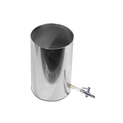 Metallic lead coating beaker