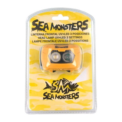 Linterna frontal Sea Monsters UV+LED 3 posiciones