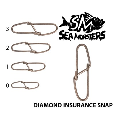 AGRAFE SEA MONSTERS DIAMOND SNAP