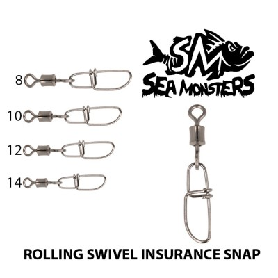 SWIVELS SEA MONSTERS ROLLING INSURACE