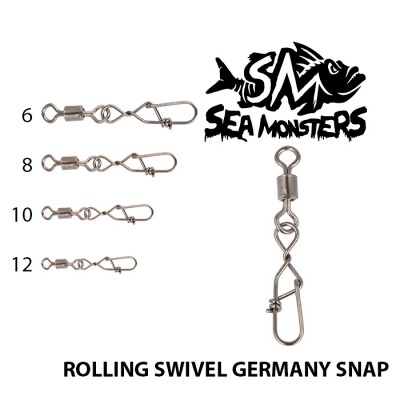 SWIVELS SEA MONSTERS ROLLING GERMANY