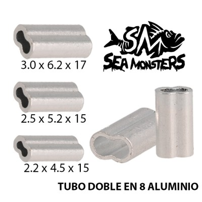 TUBO DOBLE ALUMINIO EN 8 SEA MONSTERS 2.2x4.5x15