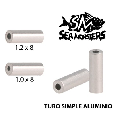 TUBO SIMPLE ALUMINIO SEA MONSTERS 1.0 x 8 (25un)