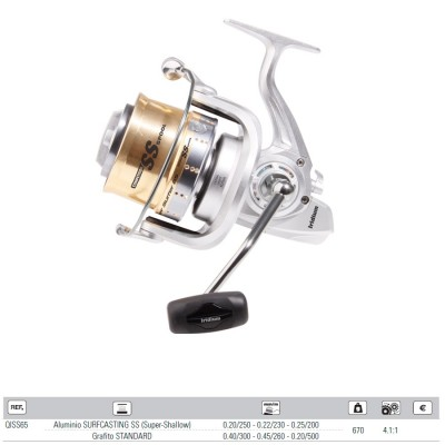 Carrete IRIDIUM SILVER SURFER 65 -6+1bb