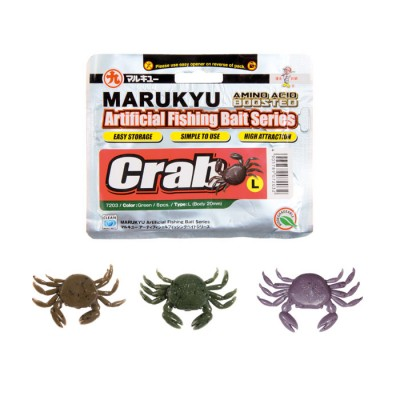 B/10pcs MARUKYU CRAB 15mm color B