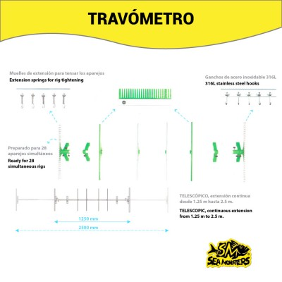 TRAVOMETRO SEA MONSTERS 2.50m