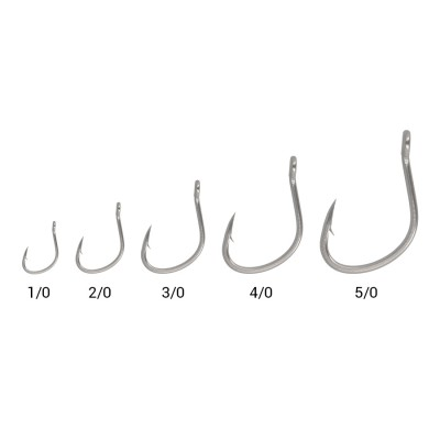 SEA MONSTERS SLOW JIGGING RINGED HOOK 1/0 5pc